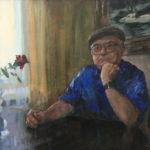Портрет ученого дома. Л. Н. Пузырёв. Х.М. 50х70. 2017